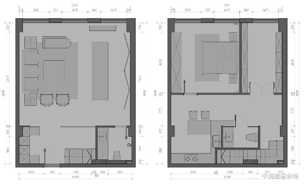 北京现代简约风书法工作室设计